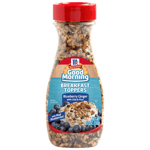 $1.00 for McCormick® Good Morning Breakfast Toppers (expiring on Saturday, 06/30/2018). Offer available at multiple stores.