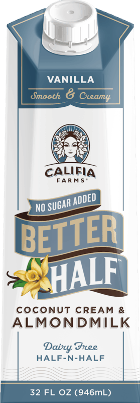 $1.00 for Califia Farms Better Half Creamer (expiring on Saturday, 07/04/2020). Offer available at Walmart, Walmart Grocery.