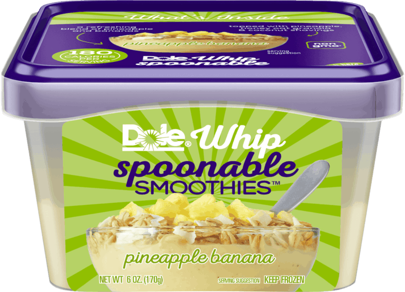 $1.00 for DOLE WHIP SPOONABLE SMOOTHIES® (expiring on Wednesday, 07/01/2020). Offer available at Walmart, Walmart Grocery.