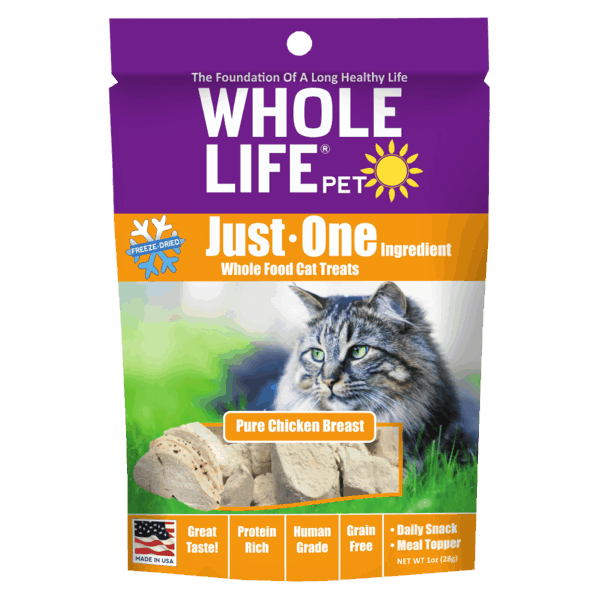 $1.00 for Whole Life® Just One Cat Treats (expiring on Tuesday, 10/01/2019). Offer available at multiple stores.