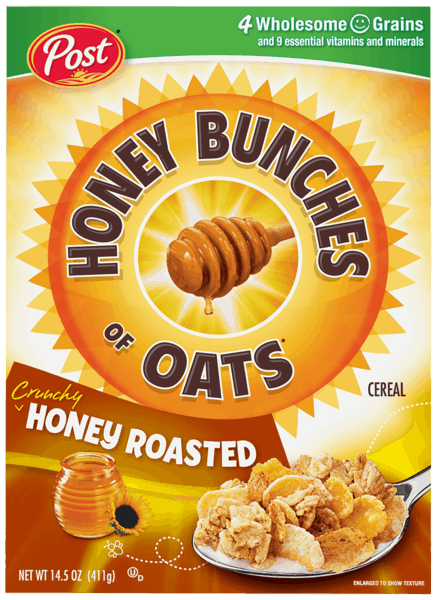 $0.50 for Honey Bunches of Oats® Cereal (expiring on Monday, 04/02/2018). Offer available at Target.