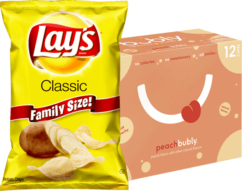 $1.50 for Lays® chips & bubly™ sparkling water Combo. Offer available at multiple stores.
