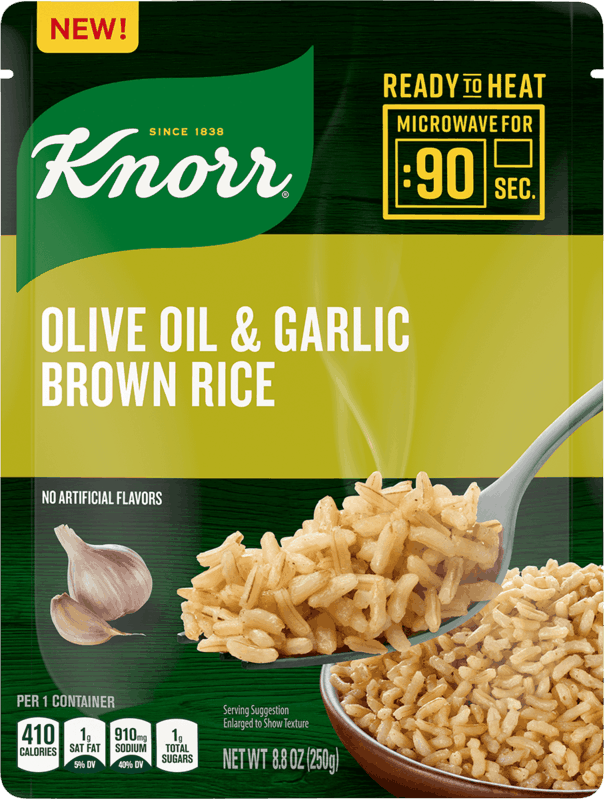 $0.50 for Knorr Ready to Heat Olive Oil & Garlic Brown Rice (expiring on Thursday, 07/02/2020). Offer available at multiple stores.