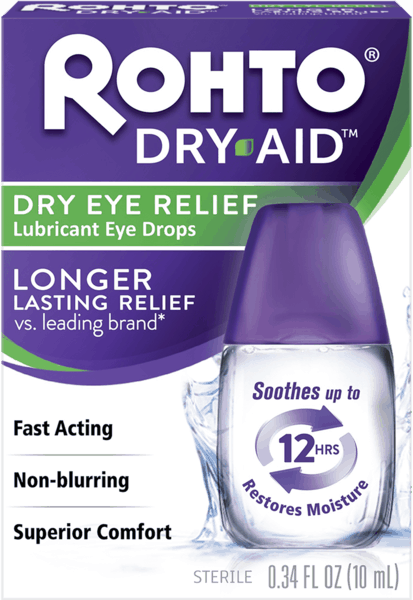 $5.00 for Rohto® Dry-Aid™ Eye Drops. Offer available at multiple stores.