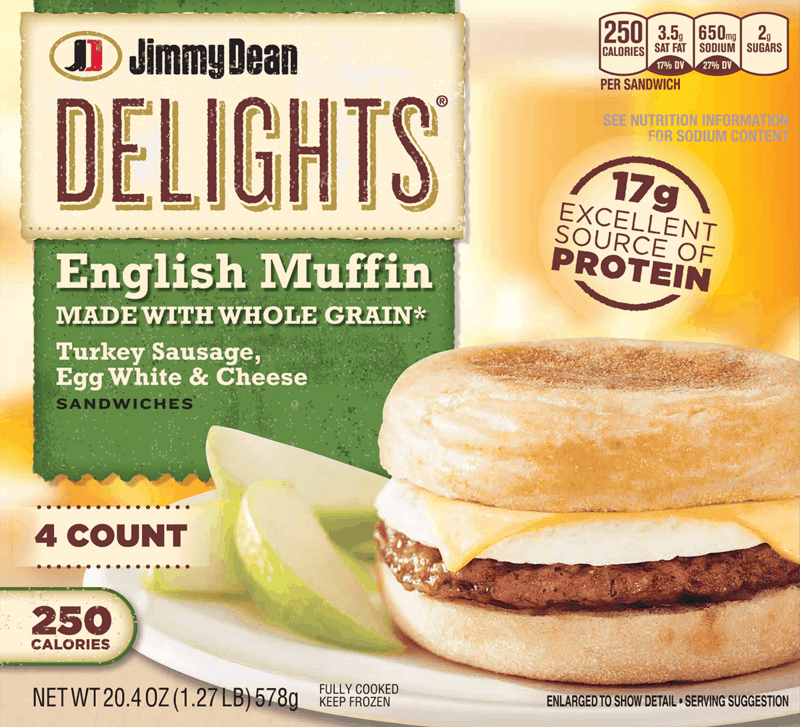 $0.55 for Jimmy Dean® and Jimmy Dean Delights® Frozen Products (expiring on Tuesday, 09/03/2019). Offer available at Military Commissary.