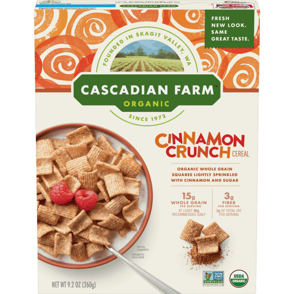 $1.00 for Cascadian Farm™ Organic Cereal. Offer available at Publix.