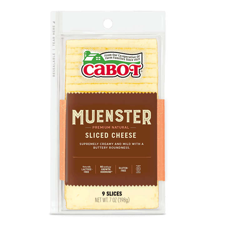 $0.75 for Cabot Shingles Sliced Muenster Cheese (expiring on Thursday, 07/02/2020). Offer available at Shaw's.
