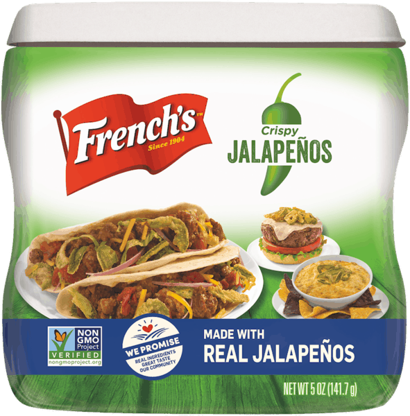 $1.00 for French's™ Crispy Jalapeños (expiring on Monday, 11/19/2018). Offer available at multiple stores.