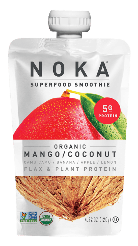 $0.25 for NOKA Organic Smoothie (expiring on Monday, 01/31/2022). Offer available at multiple stores.
