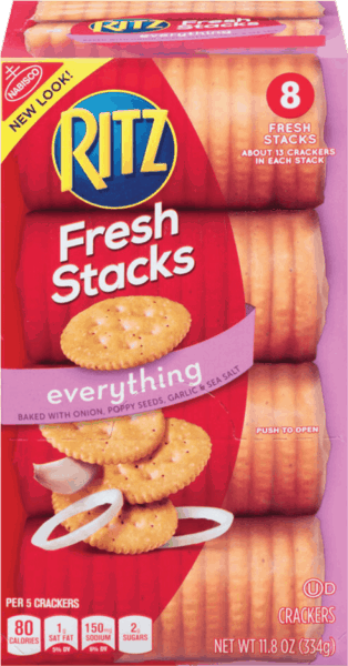 $1.00 for RITZ Fresh Stacks. Offer available at multiple stores.