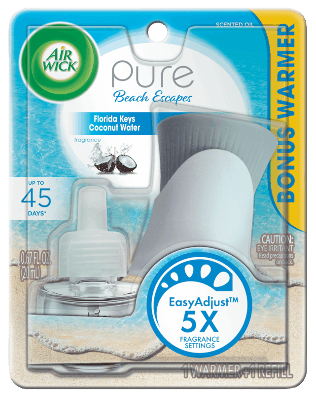 $0.75 for Air Wick® Pure Beach Escapes Starter Kit (expiring on Sunday, 09/15/2019). Offer available at Target.