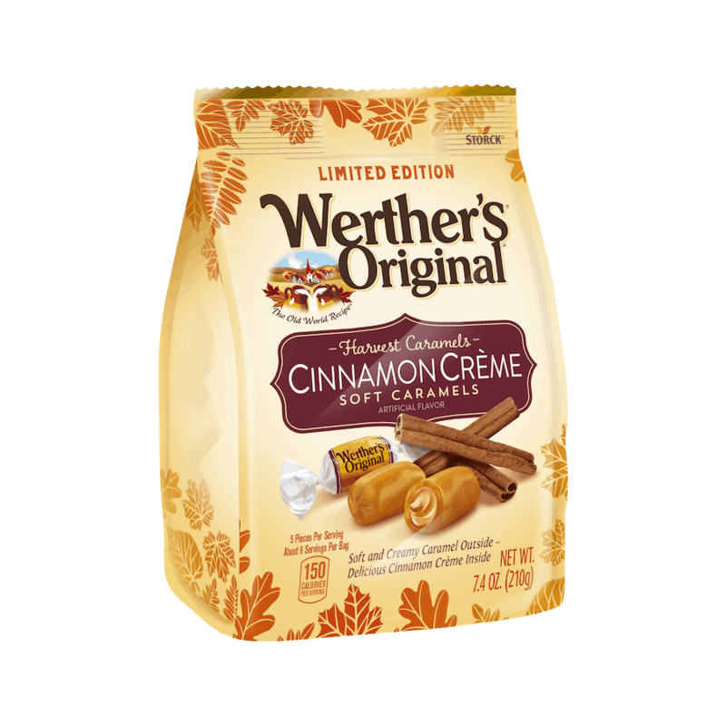 $0.75 for Werther's Original Harvest Flavors (expiring on Wednesday, 12/30/2020). Offer available at Walmart, Walmart Grocery.