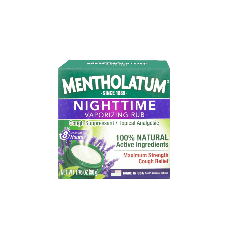 $0.50 for Mentholatum Nighttime Vaporizing Chest Rub Maximum Strength (expiring on Sunday, 03/01/2020). Offer available at multiple stores.
