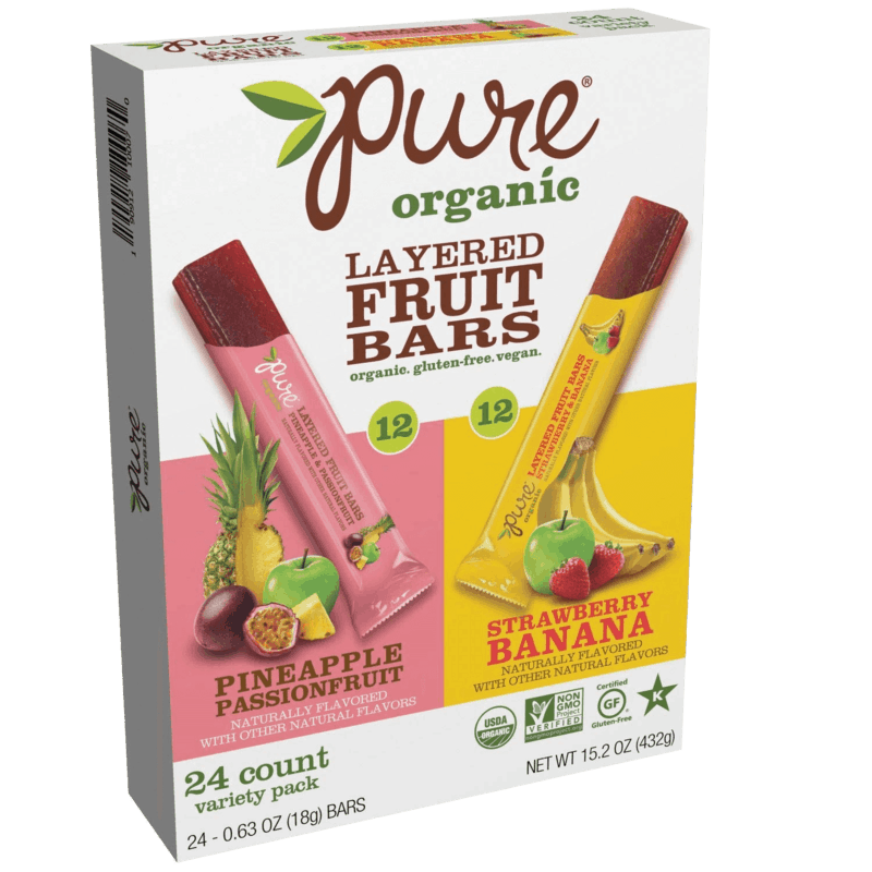 $1.00 for Pure Organic Layered Fruit Bars (expiring on Sunday, 02/28/2021). Offer available at Costco, Sam's Club, BJ's.