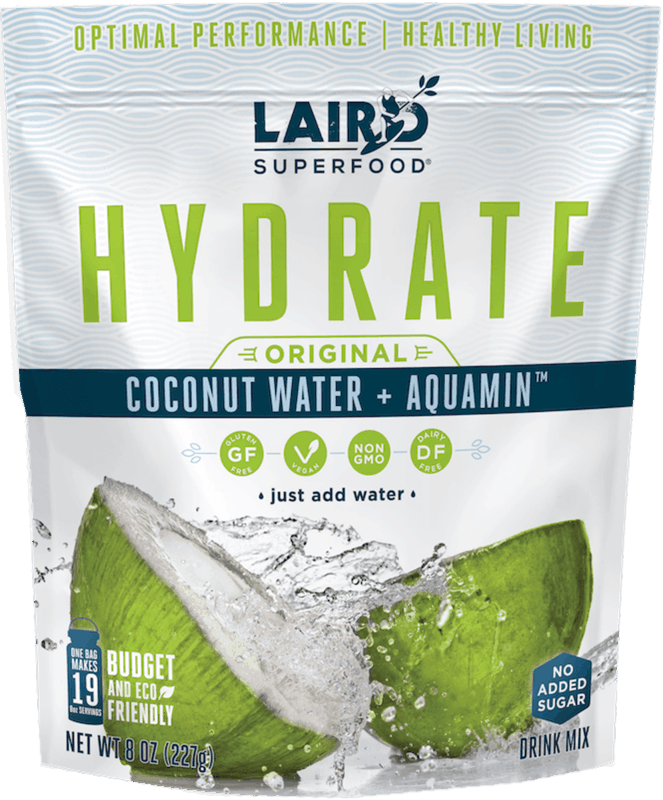 $3.00 for Laird Superfood Hydrate Coconut Water (expiring on Friday, 01/01/2021). Offer available at CVS Pharmacy, Natural Grocers, Instacart, Shipt.
