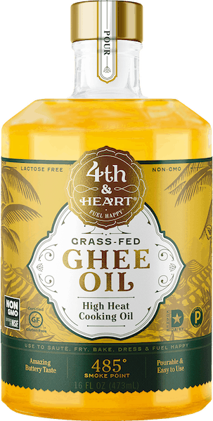 $2.00 for 4th & Heart® Grass Fed Pourable Ghee Oil (expiring on Monday, 09/02/2019). Offer available at multiple stores.