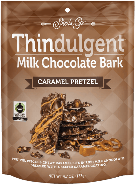 $0.75 for Thindulgent™ Milk Chocolate Bark Caramel Pretzel (expiring on Tuesday, 10/02/2018). Offer available at multiple stores.