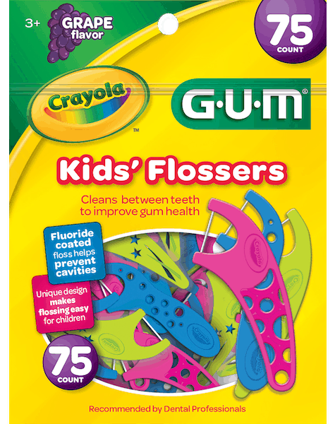 $0.50 for GUM® Crayola Kids' Flossers (expiring on Sunday, 03/31/2019). Offer available at multiple stores.