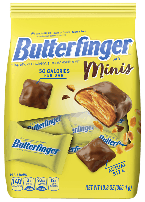 $1.50 for Butterfinger Minis. Offer available at multiple stores.