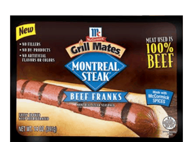 $0.75 for McCormick® Grill Mates® Beef Franks. Offer available at multiple stores.