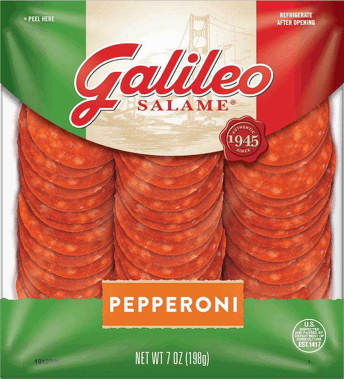 $0.50 for Galileo® Pepperoni (expiring on Thursday, 07/02/2020). Offer available at multiple stores.