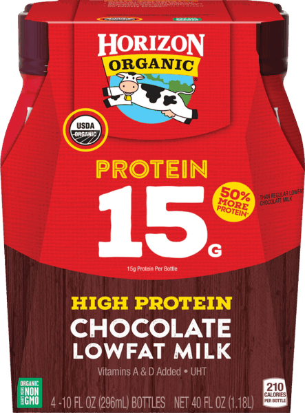 $1.00 for Horizon® Organic Protein 15 Chocolate Lowfat Milk (expiring on Monday, 04/30/2018). Offer available at Walmart.