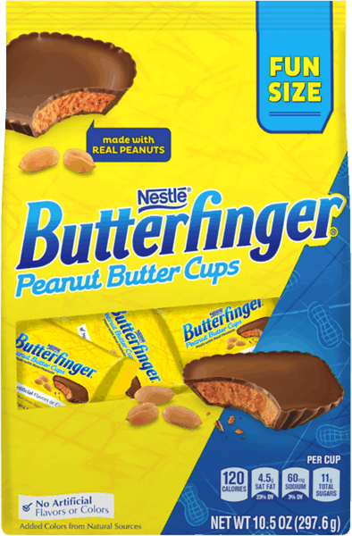 $1.00 for Butterfinger® Cups Fun Size (expiring on Sunday, 12/02/2018). Offer available at Walmart.