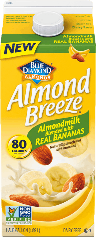 $1.00 for Almond Breeze® Almondmilk Blended with Real Bananas (expiring on Wednesday, 09/25/2019). Offer available at multiple stores.