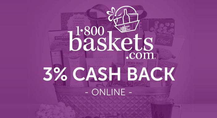 $0.00 for 1-800 Baskets (expiring on Friday, 10/31/2025). Offer available at 1-800 Baskets.