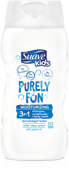 $1.00 for Suave Kids® Hair - Purely Fun (expiring on Saturday, 11/11/2017). Offer available at Walmart.