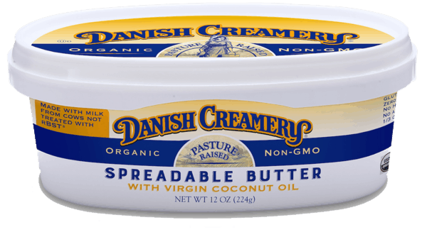 $1.00 for Organic Danish Creamery ® Spreadable Butter with Virgin Coconut Oil (expiring on Saturday, 03/02/2019). Offer available at Safeway, Vons, Pavilions, Albertsons, Jewel-Osco.