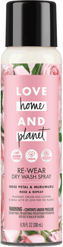 $2.00 for Love Home and Planet™ Dry Wash Spray. Offer available at Target.