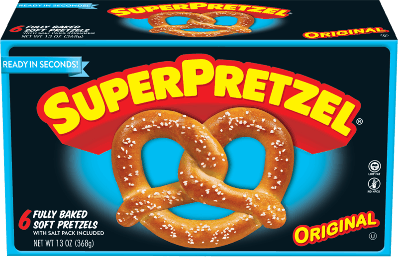 $0.50 for SUPERPRETZEL Soft Pretzels (expiring on Tuesday, 02/25/2020). Offer available at multiple stores.