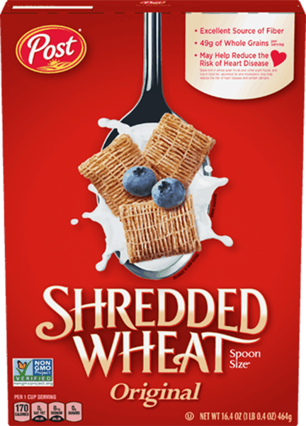 $0.35 for Post® Shredded Wheat (expiring on Wednesday, 01/02/2019). Offer available at multiple stores.