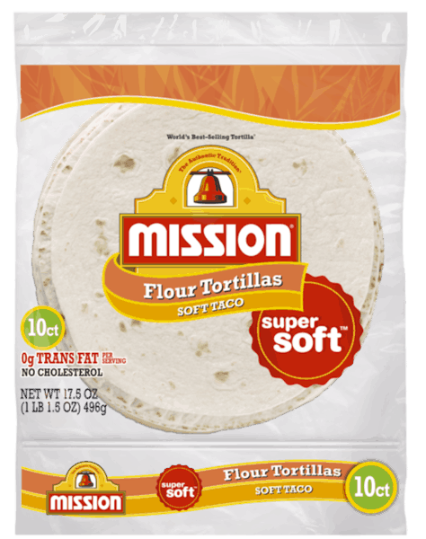 $0.55 for Mission® Super Soft Flour Tortillas (expiring on Monday, 02/05/2018). Offer available at multiple stores.