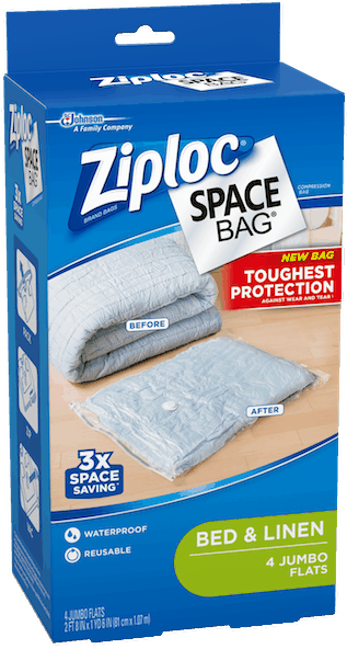 $3.00 for Ziploc® Space Bag® Products (expiring on Thursday, 08/02/2018). Offer available at Walmart.