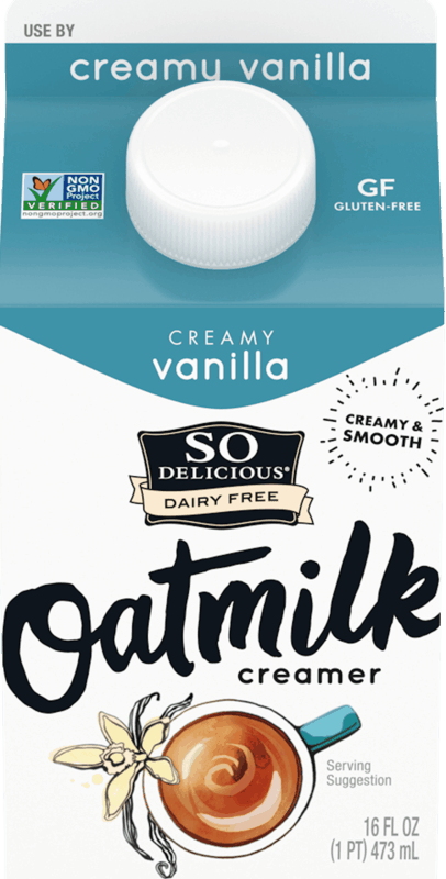 $1.00 for So Delicious Oatmilk Creamer (expiring on Friday, 09/04/2020). Offer available at multiple stores.