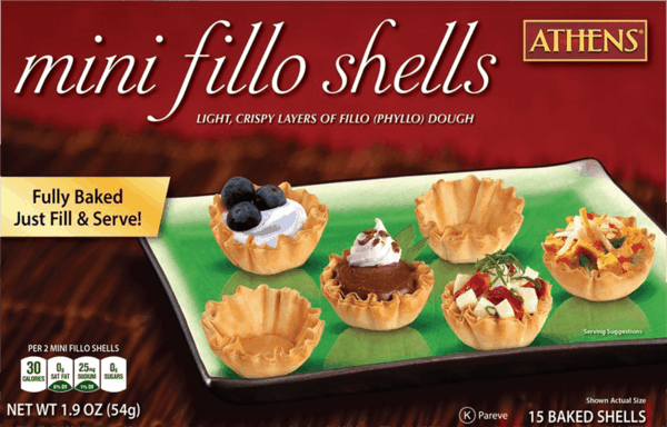 $0.50 for Athens® Mini Fillo Shells (expiring on Tuesday, 10/02/2018). Offer available at multiple stores.