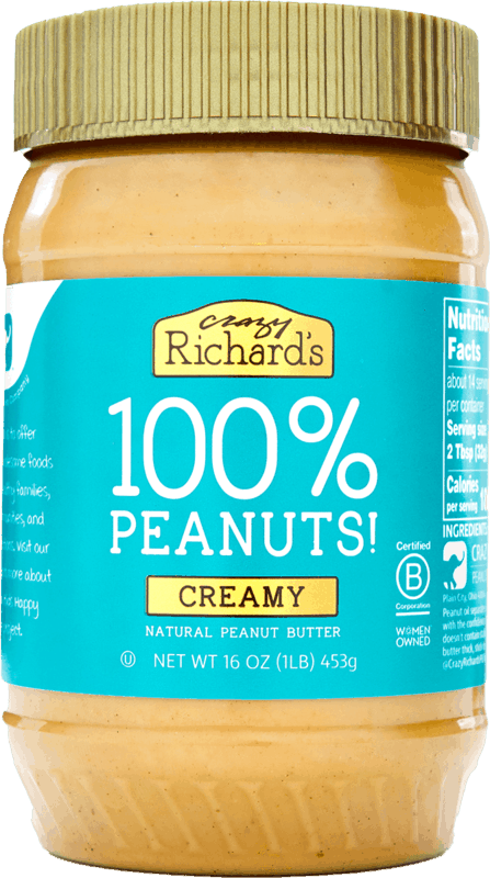 $0.50 for Crazy Richard's Natural Creamy Peanut Butter (expiring on Sunday, 01/31/2021). Offer available at multiple stores.