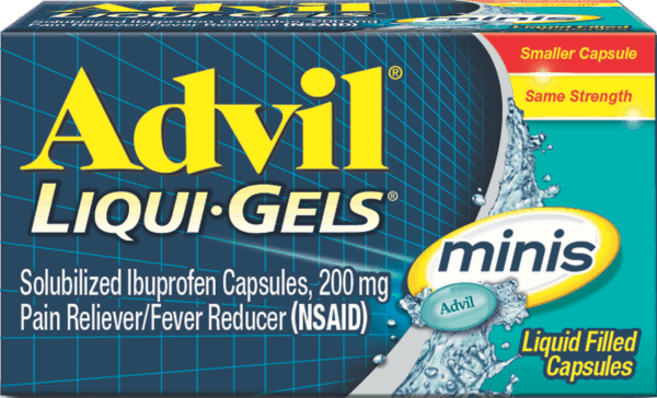 $2.00 for Advil® Liqui-Gels® minis (expiring on Sunday, 09/02/2018). Offer available at multiple stores.