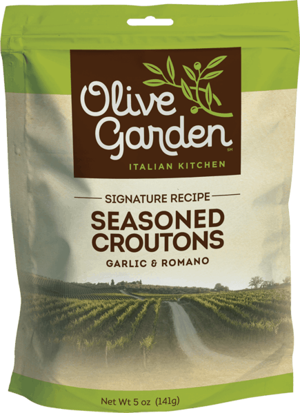 $0.25 for Olive Garden® Signature Recipe Seasoned Croutons (expiring on Sunday, 03/31/2019). Offer available at multiple stores.