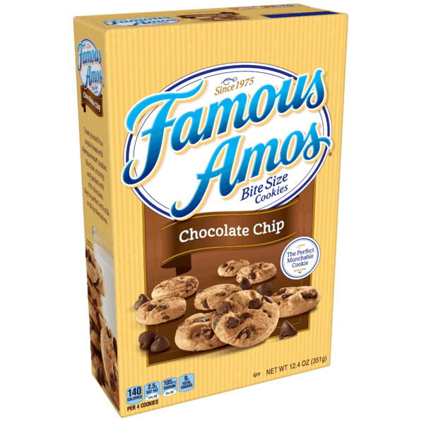 $0.25 for Famous Amos® Bite Size Cookies (expiring on Wednesday, 01/02/2019). Offer available at Walmart.