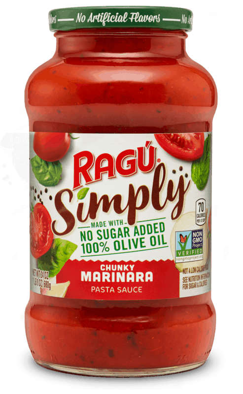 $0.50 for Ragu® Simply Pasta Sauce. Offer available at multiple stores.