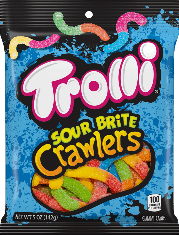 $0.50 for Trolli® Sour Brite Crawlers® (expiring on Monday, 03/02/2020). Offer available at Walmart.