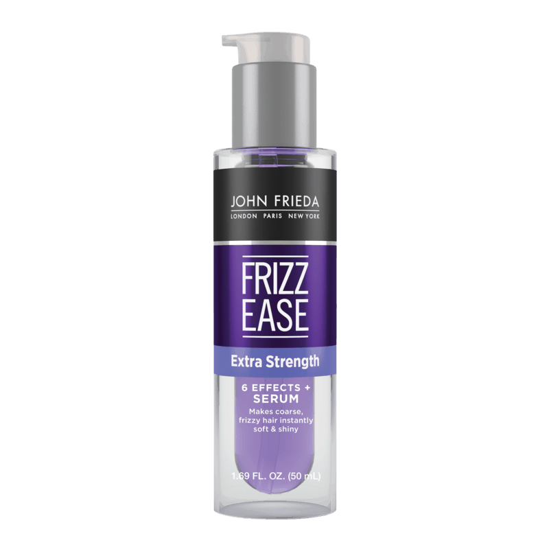 $0.75 for John Frieda® Frizz Ease® Extra Strength 6 Effects® + Serum (expiring on Saturday, 05/02/2020). Offer available at Walmart.