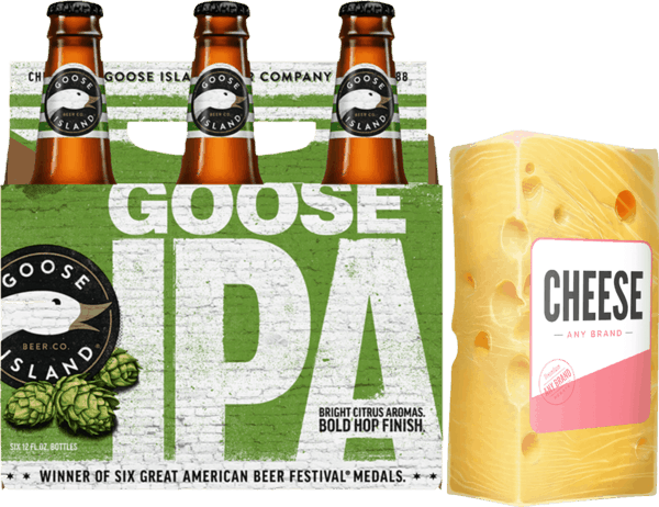 $3.00 for Goose Island® And Cheese (expiring on Wednesday, 09/05/2018). Offer available at Any Military Exchange.