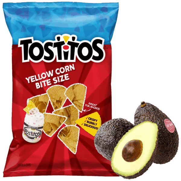 $0.50 for TOSTITOS® Chips & Avocados - Any Brand Combo (expiring on Tuesday, 07/31/2018). Offer available at multiple stores.