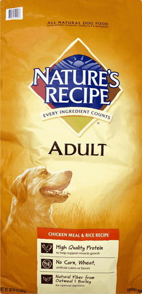 $1.50 for Nature's Recipe® Dog Food (expiring on Friday, 02/02/2018). Offer available at Walmart.