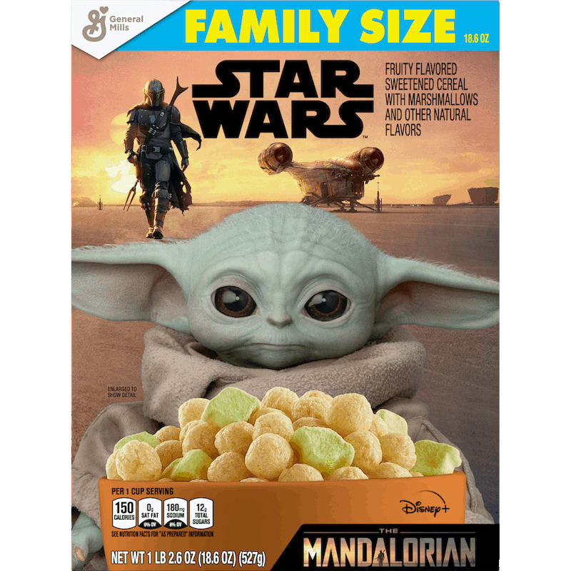 $1.00 for Star Wars The Mandalorian Cereal (expiring on Friday, 04/30/2021). Offer available at Walmart, Walmart Grocery.