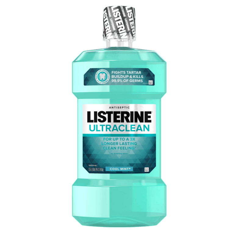 $1.00 for LISTERINE® ULTRACLEAN Mouthwash. Offer available at Walmart.